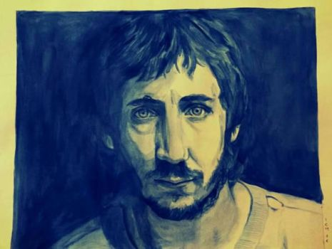 Pete Townshend - watercolors  by AgataBorghesan