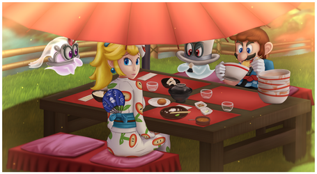 Super Mario Odyssey - Eating Together by DarkyBenji