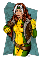 Rogue, Inked, Coloured by jupejuperocket