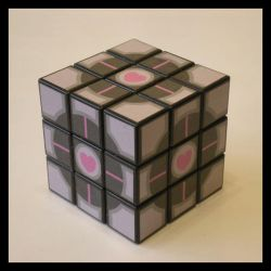 Companion Cube cube by Synfull