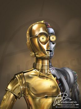 C-3PO Tributo a Star Wars by aladecuervo