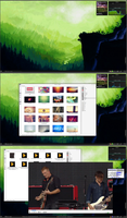 Green Archlinux with KDE 4.10 by printesoi