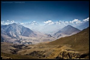 Jhong Khola and Thorung La by Dominion-Photography