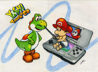 Yoshi Touch and Go 1 by Goddess-Zeusie