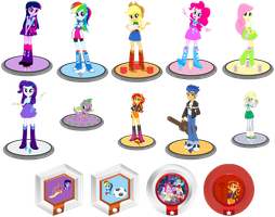 Figures and Power Disc (Equestria Girls) by TDGirlsFanForever
