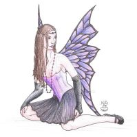 Sitting Faery by Scellanis