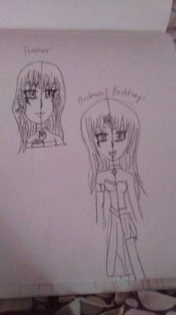 pictures of past and present Hathor and Britt by QueenBrittStalin