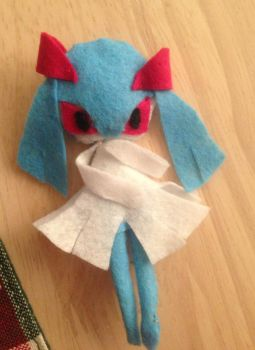 Shiny kirlia plushie~! For sale~ by Latiasylveon