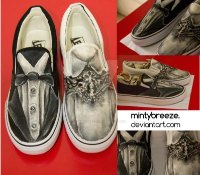 Bride and Groom shoes by mintybreeze