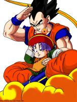 Vegeta and Trunks by Nei-Ning