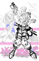 Commish 88 Domino wip 01 by RobDuenas