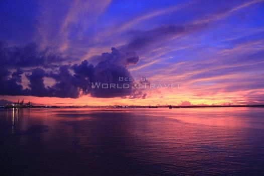 Sunset at Cebu Port by bestofworldtravel