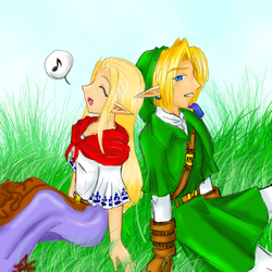 Art Request: Link and Keta by chiri-chan