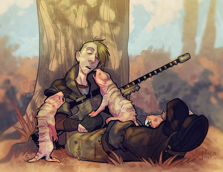 Wasteland nap by GalooGameLady