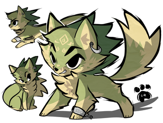 Toon wolf link by clockworkq