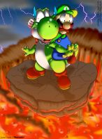 Luigi and Yoshi - CG Edition by hope-n-forever