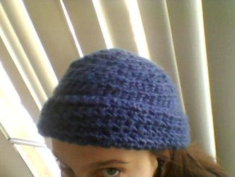 my blue hat by Daddys-Girl1997