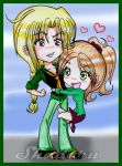 Chibi Couple: Valentines: Ray and Molly. by Shadoru-Flames