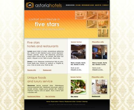 Hotel Website - Layout Design by coaxie