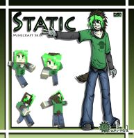 .:Static Minecraft Skin:. by BlueBead