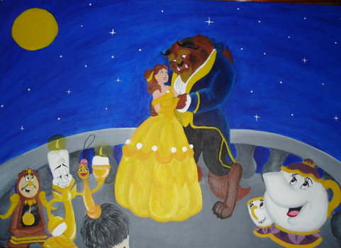 Beauty and the Beast painting by SeltzerAddict