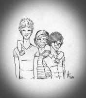 Request: Rhett and Link and Pewdiepie by StellaPollet