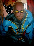 Wall Mural Black Lightning by morgoththeone