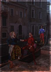 A Night in Venice Detail by FreyrStrongart