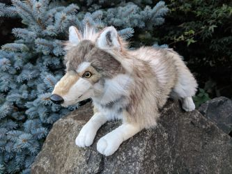 Sarity Creations Small Timber Wolf Plush by LilMissAleu