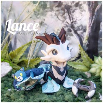 Lance the Blue Paladin Dragon by MiniMythicals