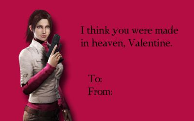 Tacky RE Valentines-Claire Redfield by Isobel-Theroux