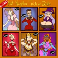 Hot Neighbor Trick or Dopts - SOLD OUT by JonFreeman