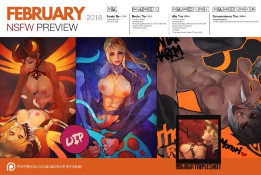 Patreon March 2018 NSFW Preview by MonoriRogue
