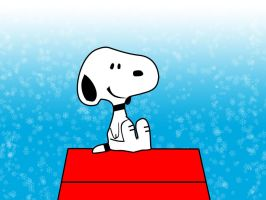Snoopy Snowy by frettsy