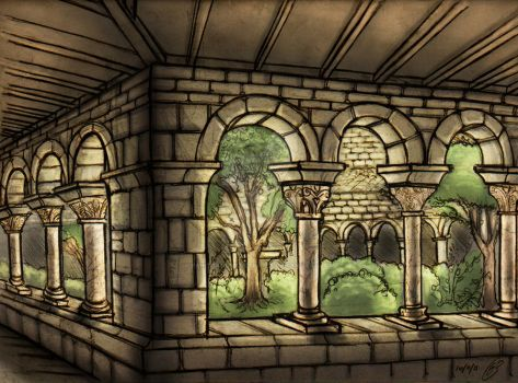 Epicenter of the Monastery by PaintsandIllustrates
