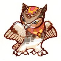 Great Horned Owl Charm Design by Talenshi