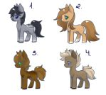 Pony Adopts (#3) 2/4 OPEN by FreyasAdoptables