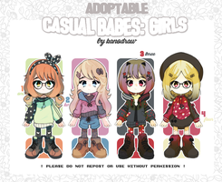 Adoptable SALE: Casual Babes 18 [1 LEFT] by amepan