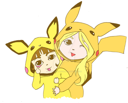 Pika Girls by amahakianangel
