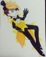 Bill Cipher Human form (quick drawing) by NyusagiART