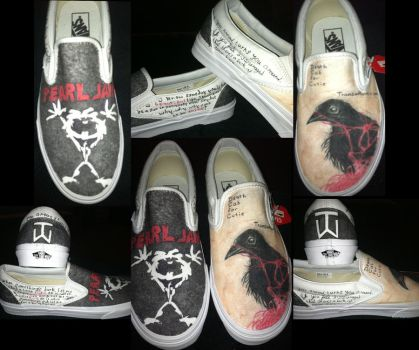 Death Cab and Pearl Jam shoes by Jarda-Potter