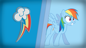 Striped Wallpaper - Rainbow Dash by DJDavid98