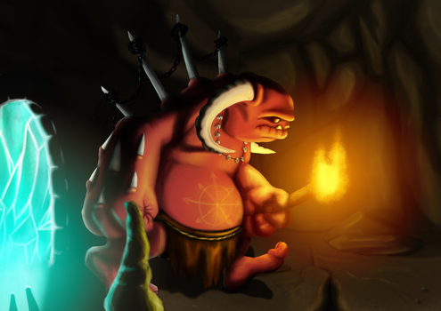Demon in cave by kuuvalas