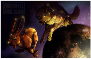 Lupus and Lepus by Nixhil