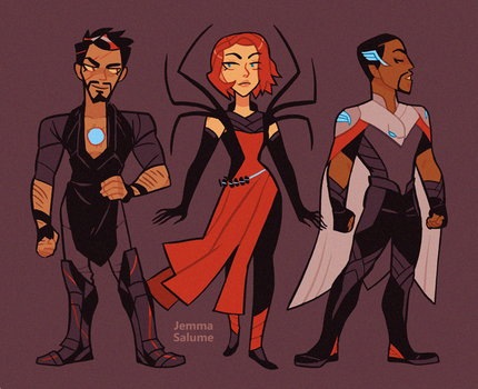 Avengers in Asgard by oxboxer