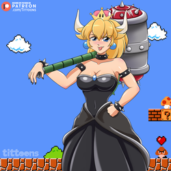 Bowsette by TiTtoons