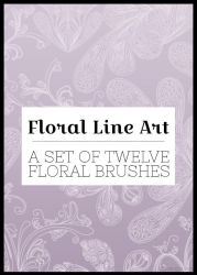 Floral Lineart Brushes by missfairytaled