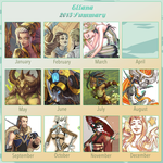 2015 Summary of art by Ellana01