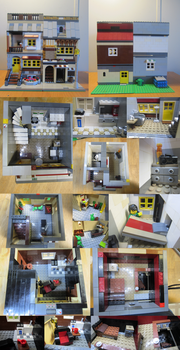 LEGO Town House And Store by BurningAshDragon