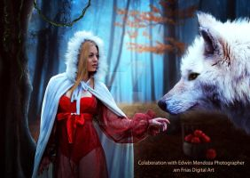 Red Ridding Hood With Wolf by jiajenn
